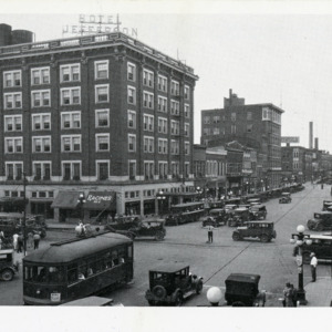 Corner of Washington and Dubuque Streets, mid-1920s