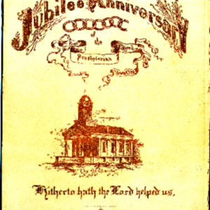 1890 First Presbyterian Church Jubilee Anniversary Program