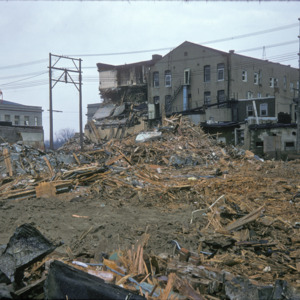 Building Remains, 000-Block East Washington Street, 1975