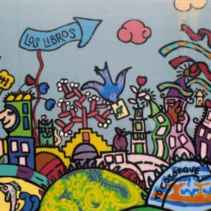 """""""Los Libros"""" ICPL Construction Wall Panel, 2002"""