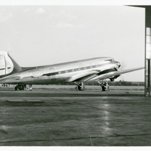 United Airlines Boeing DC-3 plane, undated