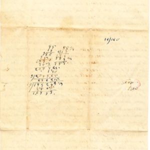 Back of Letter dated 1850