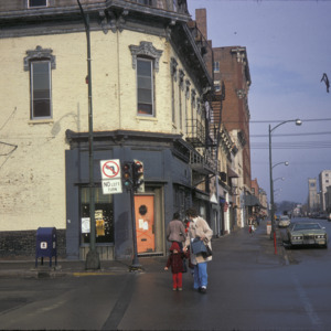 Corner of South Dubuque & East College Streets,  1975