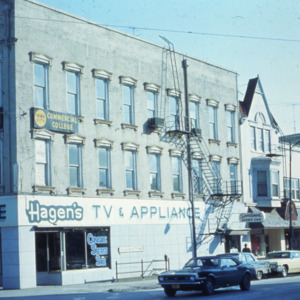 Corner of Washington and Dubuque Streets, 1970s
