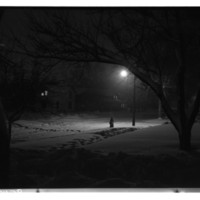 Jefferson Street? under Snow at Night, 1950s