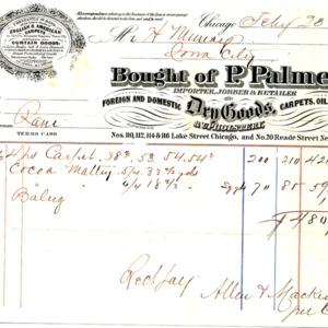 1865 Receipt for carpet