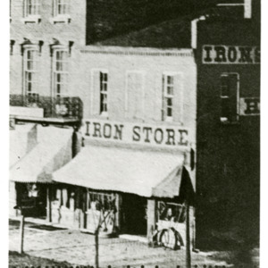 Image of first Regular Meeting Place of Iowa City Masonic Lodge #4, Iowa City, Iowa, 1843
