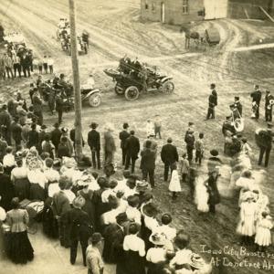 Iowa City Boosters at Lone Tree, April 28, 1910