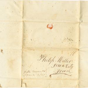 Address for letter, dated September 3, 1849
