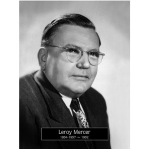 1954-1957, 1962: Mayor LeRoy Mercer