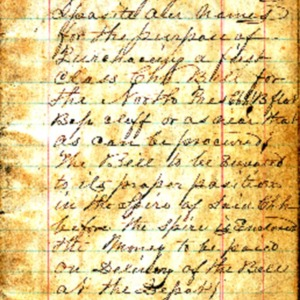 1869 Church bell subscription ledger