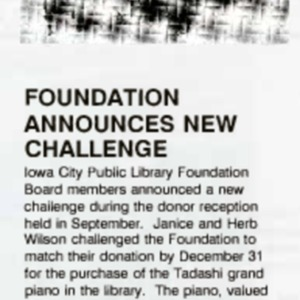 1990 Foundation Announces New Challenge