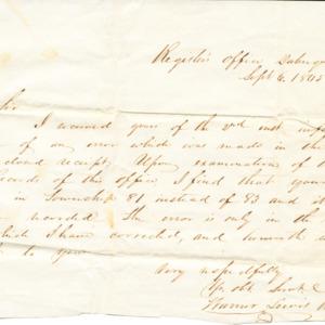 Letter dated September 6, 1845