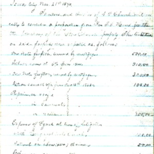 1870 Document detailing Stone Church property