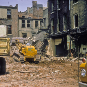 Behind View Building Debris, Corner of East Washington and South Clinton Streets, 1970-1976