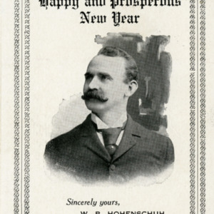 "W.P. Hohenschuh: ""A Happy and Prosperous New Year"""