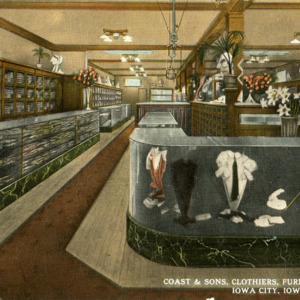 Coast & Sons, Clothiers, Furnishers, Tailors, Iowa City, Iowa