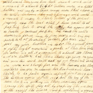 Letter dated 1850