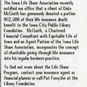 1988 November ICPL Foundation Update