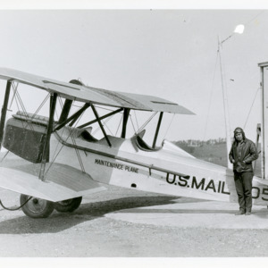 U.S. Air Mail maintenance plane and pilot, 1925