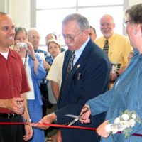 Library Building Ribbon Cutting, 2004