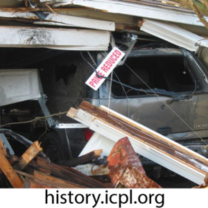 Collapsed garage