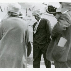 Will Rogers at Iowa City Airport, 1928