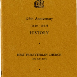 1965 125th Anniversary History booklet