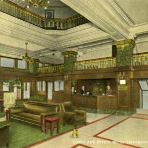 Lobby and Office, Hotel Jefferson, Iowa City, Iowa