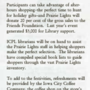 1995 Book Gala 95 Nov 12 at Prairie Lights