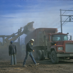 Demolition Crew with Truck, 1975