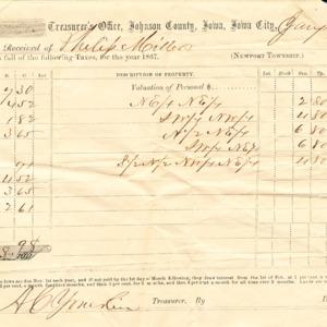 Tax Form, 1867