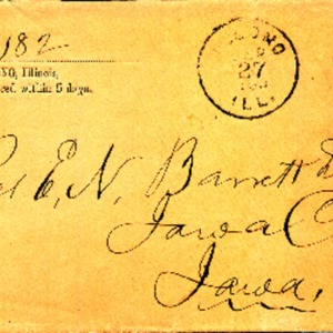1890 Letter from Rev. Crozier to Rev. Barrett
