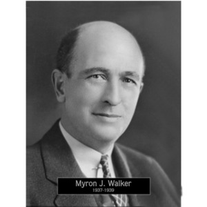 1937: Mayor Myron Walker