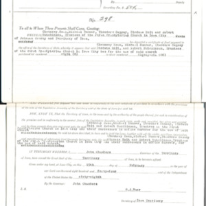 1923 Land Patent Record for the First Presbyterian Church (copy)