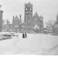 First United Methodist Church in the Snow, 1950s