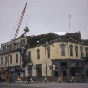 Odd Fellows Building Demolition, 100-Block East College Street, 1975