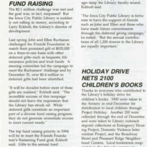 1994 February News from the Iowa City Public Library Friends Foundation