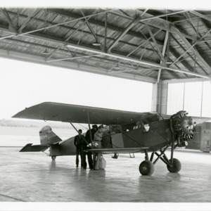 Iowa City Airport hangar, 1938