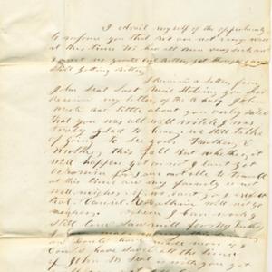 Letter dated September 3, 1849