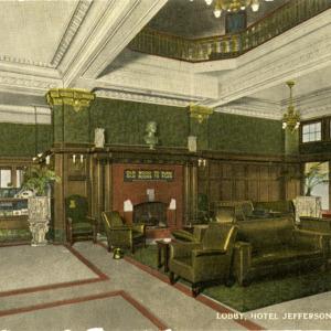 Lobby, Hotel Jefferson, Iowa City, Iowa