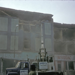 Jackson's Building Demolition, 000-Block East Washington Street, 1975