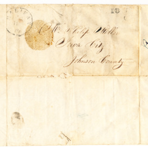 Letter addressed to Philip Miller dated April 6, 1864