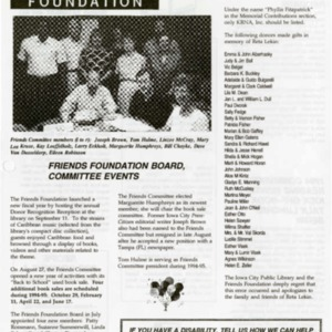 1994 October News from the Iowa City Public Library Friends Foundation