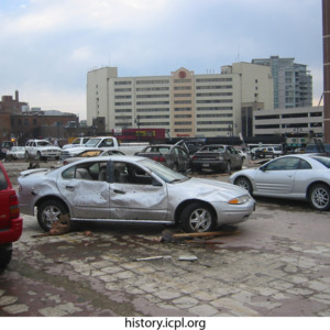Damaged Cars near Burlington Street