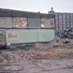 Farm Scene Painting on Wall, Demolished Miller Brothers Monuments Building, 222 E College St, 1975