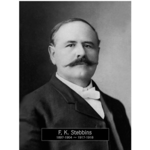 1897-1904, 1917: Mayor Frank Stebbins