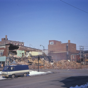 Building Demolition and Remains, 200-Block East College Street, 1975