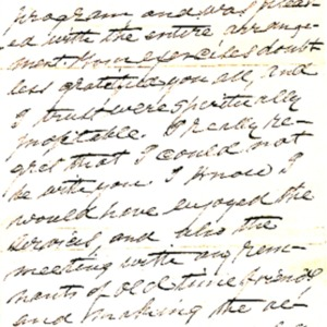 1890 Letter from Rev. O. O. McClean regarding the Church's 50th anniversary celebration