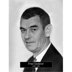 1962: Mayor Fred Doderer